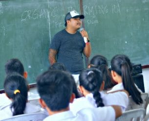 Juan Miguel Silva, Organic Farming Enthusiast, lectures on proper methodology in setting up a sustainable farm
