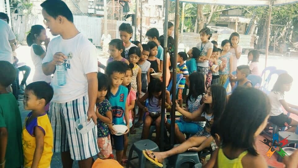HAPI Kids wait for their turn to be served the 'Nutritious Meal of the Day'